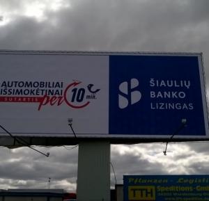 Šiaulių banko lizingo tentas