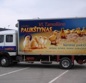 Sunkvežimio apklijavimas