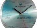 Sieninis laikrodis iš aliuminio Nr.7130.BMatmenys Ø 300 mm.