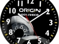 Sieninis laikrodis pagamintas iš MDF Nr.514. Matmenys Ø 250.